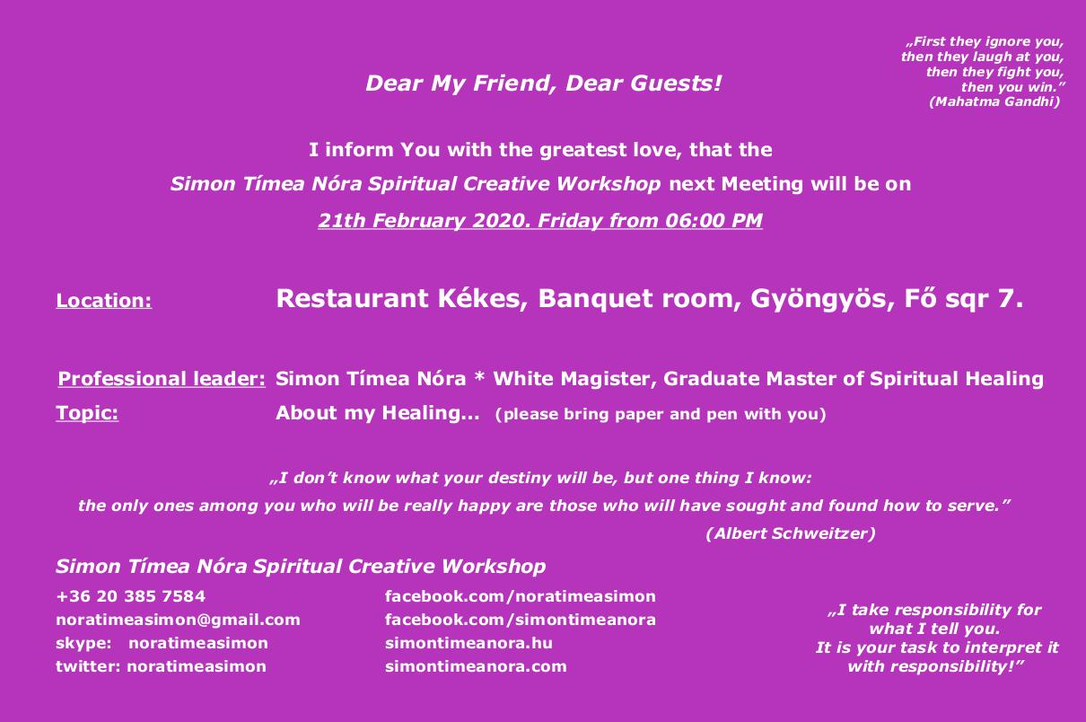 Invitation 21th February 2020 06:00 PM